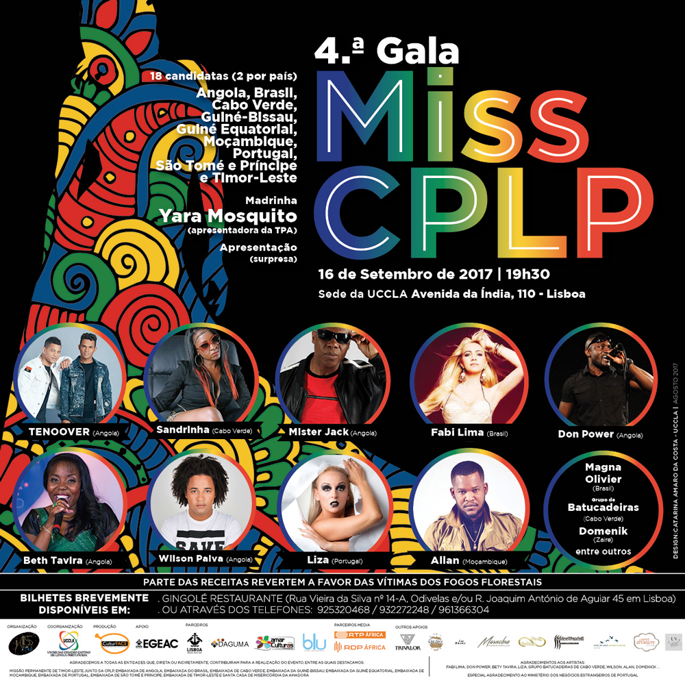 Portugal acolhe IV Gala MISS CPLP 2017